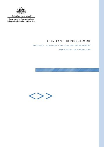 From paper to procurement effective catalogue creation and ...