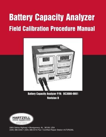 Battery Capacity Analyzer - Hartzell Engine Technologies