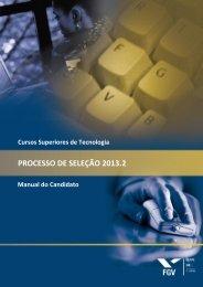 Manual do candidato - Processos seletivos FGV - Fundação Getulio ...