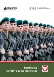 Bericht zur Reform des Wehrdienstes - Österreichs Bundesheer