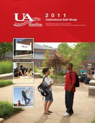UACCM Self-Study - University of Arkansas Community College at ...