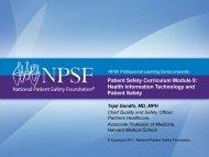 Patient Safety Curriculum Module 9: Health Information Technology ...