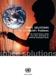SPACE SOLUTIONS for the World's Problems - United Nations ...