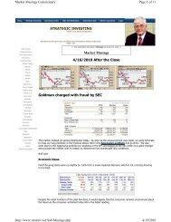 April 12, 2010 - Strategic Investing