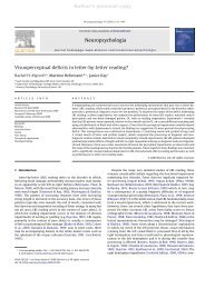 Author's personal copy - Center for the Neural Basis of Cognition ...