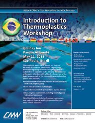 Introduction to Thermoplastics Workshop Introduction to ...