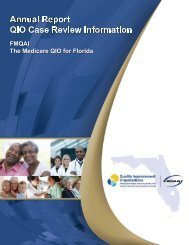 Annual Report QIO Case Review Information - FMQAI: The Medicare ...