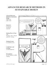 ARCH 678 - Advanced Research Methods in Sustainable Design