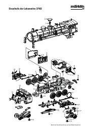 Einzelteile der Lokomotive 37183