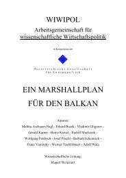 Ein Marshallplan für den Balkan - Wolfgang Petritsch