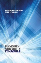 medicine and dentistry prospectus 2014 - Plymouth University