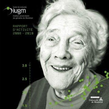 RAPPORT D'ACTIVITÉ 2008 - 2010 - CRIUGM