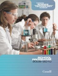 Canada Science and Technology Museum - School Programs ...