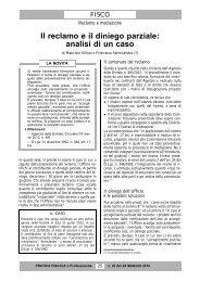 Il reclamo e il diniego parziale: analisi di un caso - Studio Legale ...