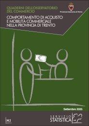 Comportamento di acquisto e mobilità ... - Servizio Statistica