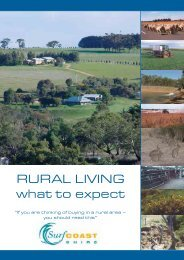 RURAL LIVING what to expect - Surf Coast Shire