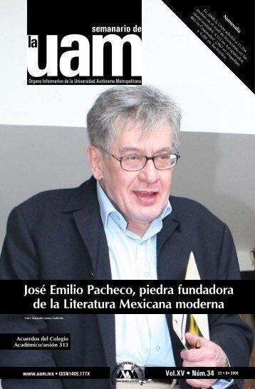 José Emilio Pacheco, piedra fundadora de la Literatura Mexicana ...