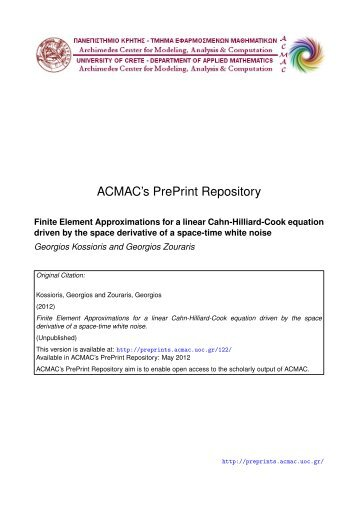 Download (517Kb) - ACMAC's PrePrint Repository