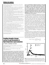 Coupling strength of charge carriers to spin ¯uctuations in high ...
