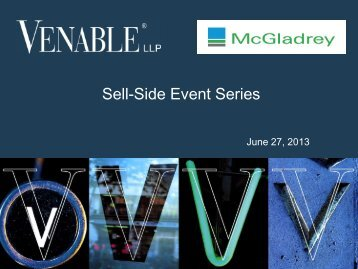 Sell-Side Event Series - Venable LLP