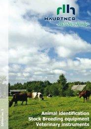 Animal identification Stock Breeding equipment Veterinary instruments