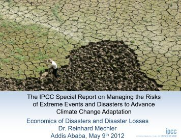 Economics of Disasters and Disaster Losses - CDKN Global