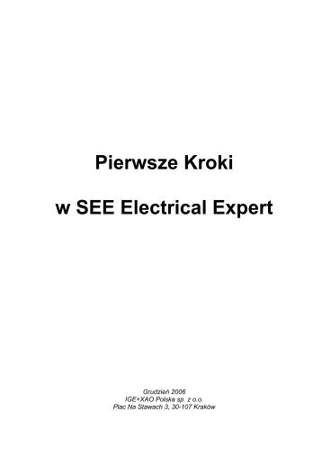Pierwsze Kroki w SEE Electrical Expert - IGE+XAO Polska Sp. z o.o.