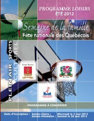 Mercredi le 2 mai 2012 Sainte-Hénédine : Samedi le ... - Sainte-Claire