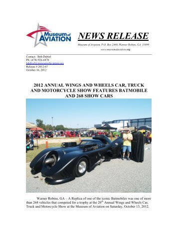 2012 annual wings and wheels car, truck - Museum of Aviation