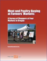 Meat and Poultry Buying at Farmers' Markets: - Oregon Small Farms ...