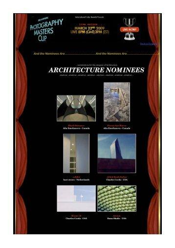 PDF Architecture Nominees - Massimo Cristaldi