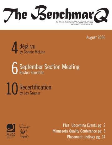 August - Minnesota Section ASQ