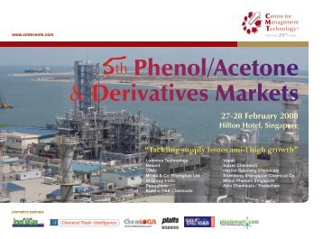 Phenol/Acetone & Derivatives Markets - CMT Conferences