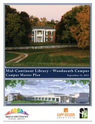 Woodneath Master Plan Concept - Mid-Continent Public Library