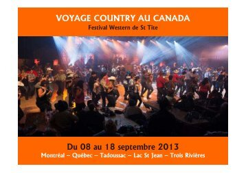 CANADA - VOYAGE COUNTRY 2013 Festival Western ... - Prometour