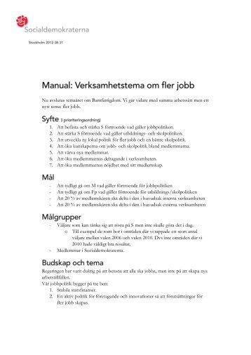Ladda ner hela manualen här (PDF) - Socialdemokraterna