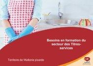 Besoins en formation du secteur des Titres- services - CSEF