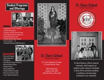Saint Clare School Brochure - Church of Saint Clare