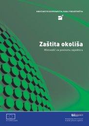 Minivodič za poslovnu zajednicu 'Zaštita okoliša' - Ministarstvo ...