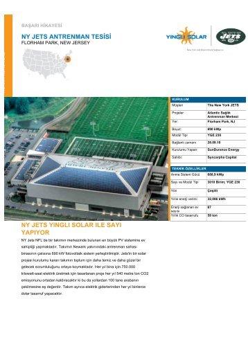 NY Jets Antrenman Sahası - Yingli Solar