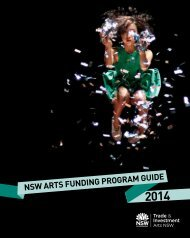 NSW ArtS FuNdiNg ProgrAm guide - Arts NSW - NSW Government