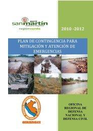 plan de contingencia para mitigación y atención de emergencias