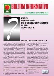 Boletim Informativo Setembro/Outubro de 2007 - CNA