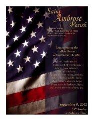 September 9, 2012 - Saint Ambrose Parish