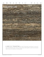 Product specifications - Artistic Tile