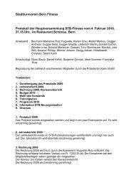 Protokoll der Hauptversammlung vom 4. Februar 2010