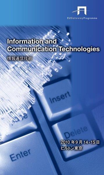 Information and Communication Technologies - EU Gateway ...