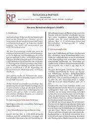 PatRG - Ratajczak & Partner Rechtsanwälte