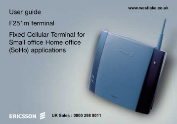 user manual for the Ericsson F251m fixed cellular terminal - FCT251 ...
