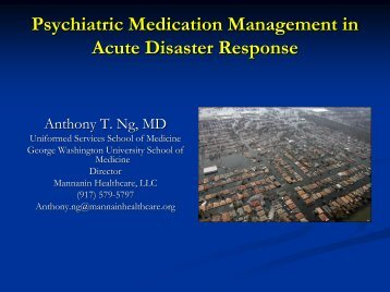 Psychopharmacology - The 2012 Integrated Medical, Public Health ...